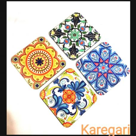 Beautiful Multicolor Coaster set of 4