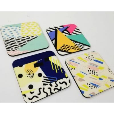 Lovely Printed Coaster set of 4