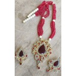 Farshi Kundan Gold Plated Fancy Mala with Earrings