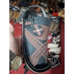 Red and Black Balochi Chappal