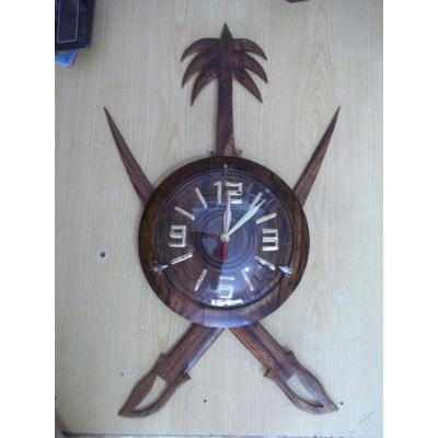 Sword/Talwar Shape Beautiful Wooden Hand Made Wall Clock
