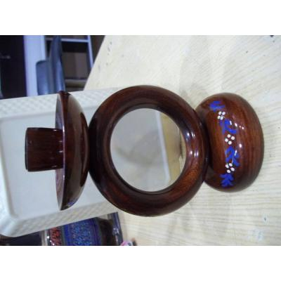Wooden candle holder single stand