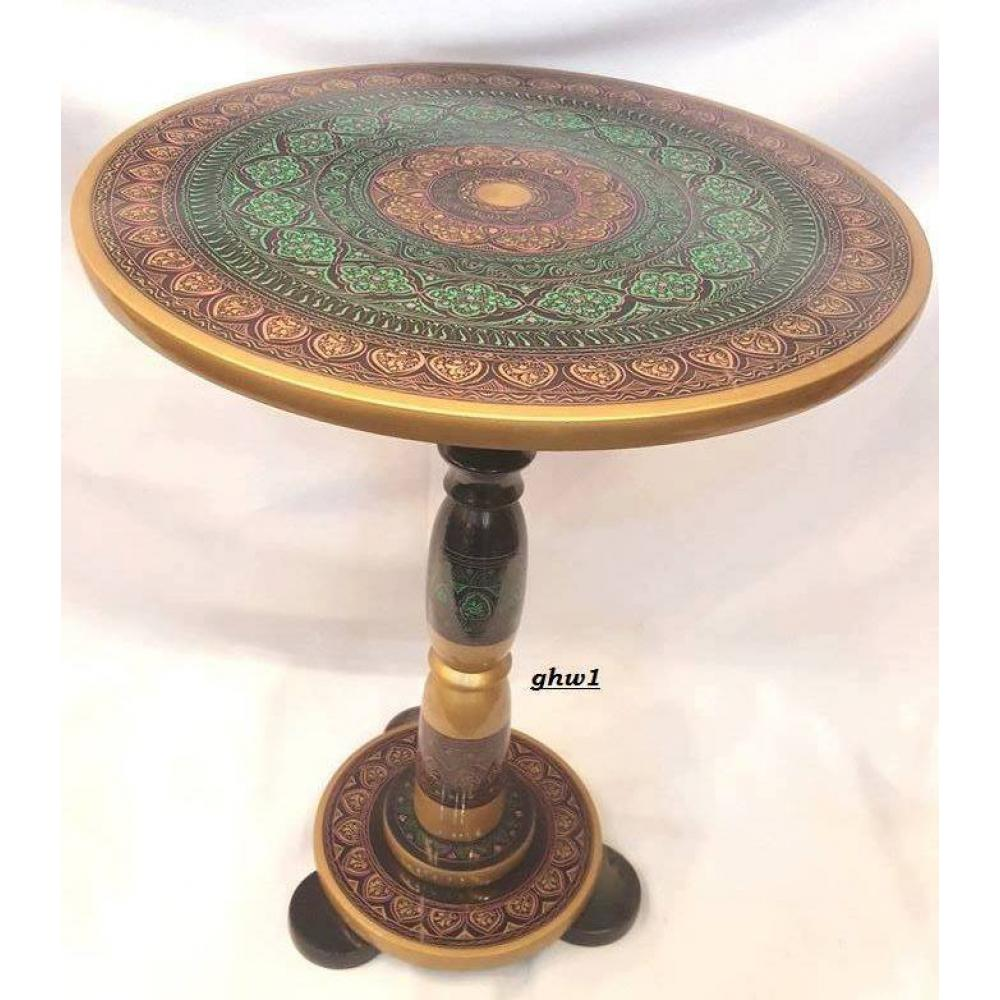 Beautiful Wooden Antique Handmade Lacquer Art Coffee Table