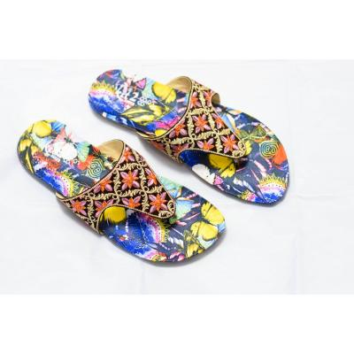 Ladies chappal with printed sole