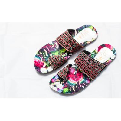 Printed sole ladies chappal