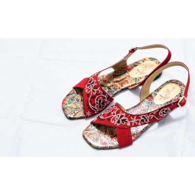 red kohati printed sole