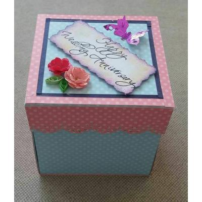 Beautiful Handmade Exploding Box Card for Wedding Anniversary