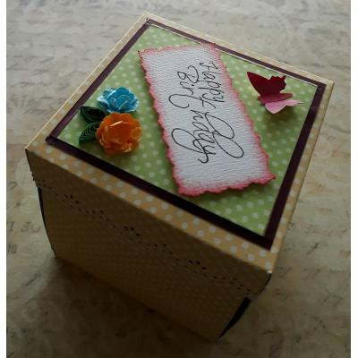 Beautiful Handmade Exploding Box Card for Happy Birthday