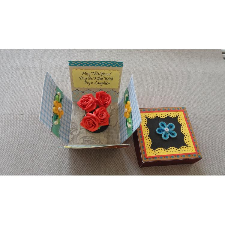 Beautiful Handmade Exploding Box Card for Special Day