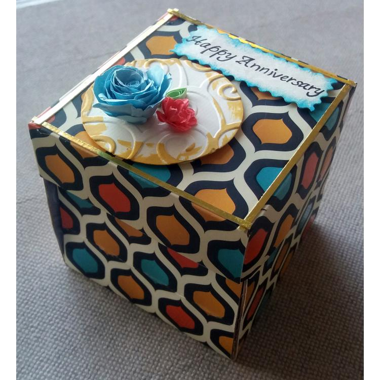 Beautiful Handmade Exploding Box Card for Wedding Anniversary for Him or Her