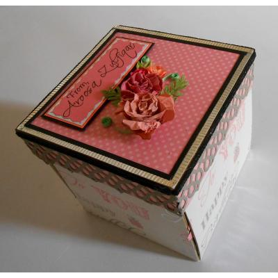 Beautiful Handmade Exploding Box Card for Girl Birthday