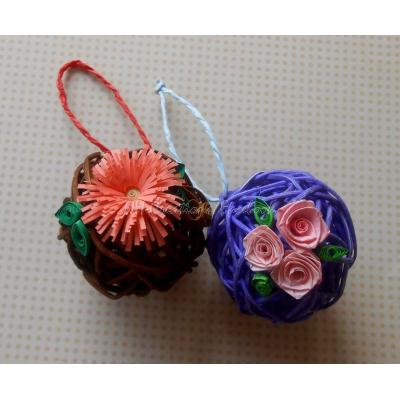 Beautiful Handmade Decorated Rattan Ball for Her