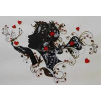 Beautiful Handmade Wall Hanging Decorated Quilled Women Characters