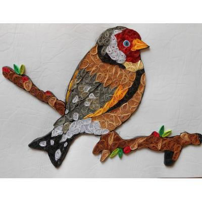 Beautiful Handmade Wall Hanging Decorated Quilled Bird Characters