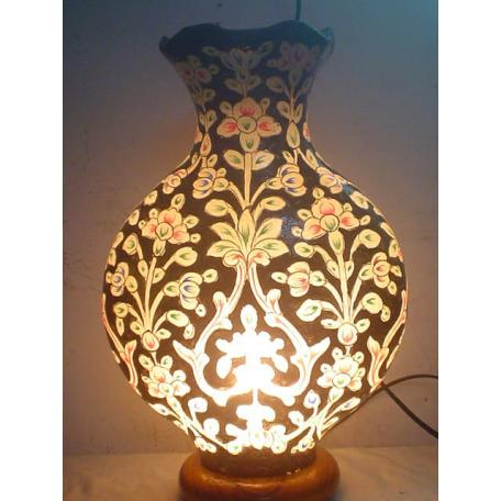 Vase shaped Camel Skin Lamp