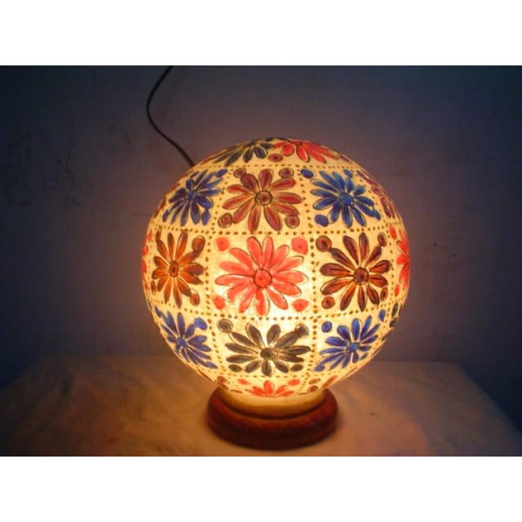 Beautiful Camel Skin Globe Lamp