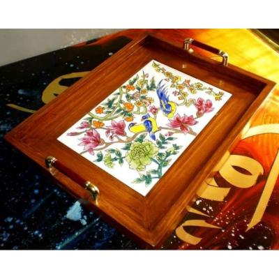 Wooden Serving Tile Tray