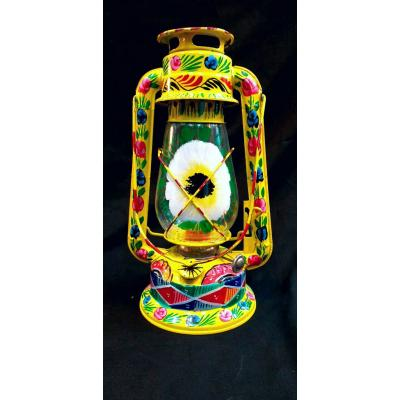 Lantern Painted with Truck Art