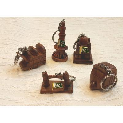 Beautiful Wooden Keychains Set of 5