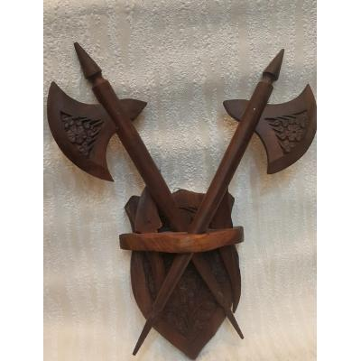 Wooden Axes Wall Hanging