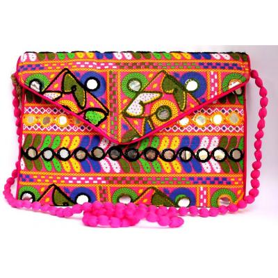 Embroidery Clutch Multi Color