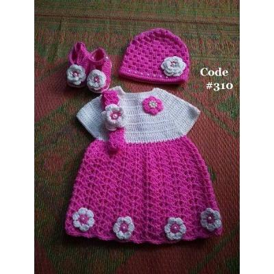 Hand Knitted Baby Frock