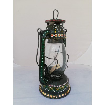 Black Lantern with Flowers