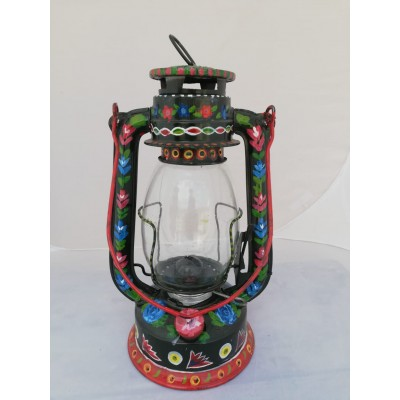 Black Handpainted Lantern