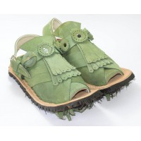Light Green Balochi Chappal