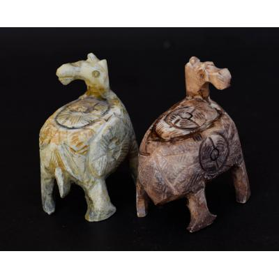 Camel Carved on  Camel Bone