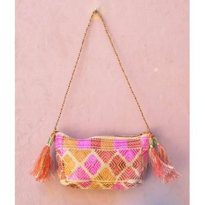 multi color embroidered hand bag