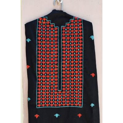 black mehroon embroidered kurti