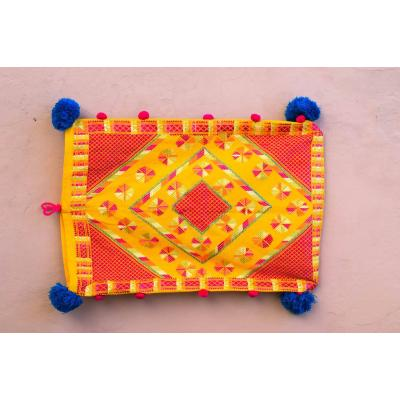 yellow and red pillow cover