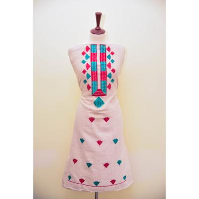 White Kurti with Colorful Embroidery