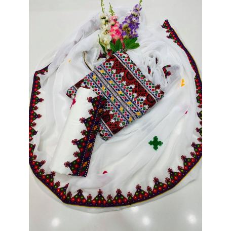 Sindhi Ajrak Lawn Dress