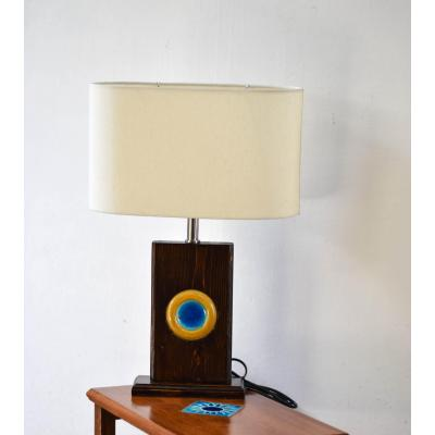Table Lamps With Tile Engraved