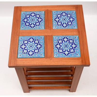 Coffee table with tile work