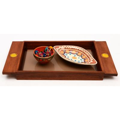Wood & Tile Serving Tray
