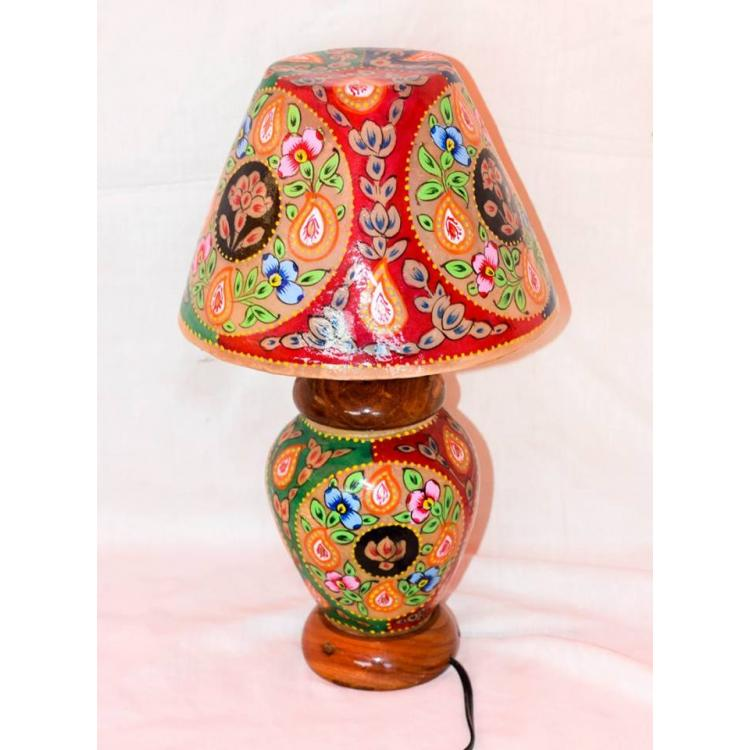 camel skin lamp flower painted
