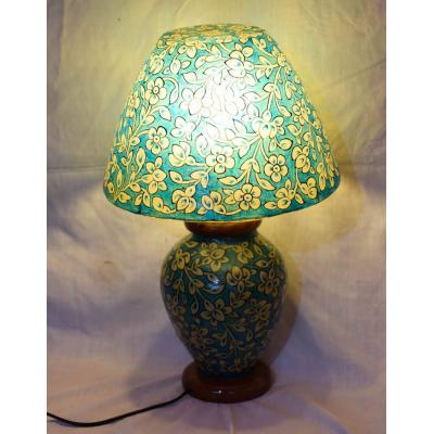 Blue camel skin lamp shade