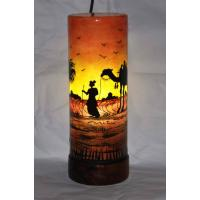 Beautiful Camel Skin Stand Lamp Camel Painted