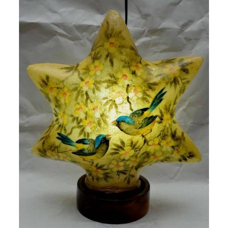 Camel skin star lamp sparrow painted