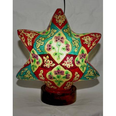 Camel skin star lamp available in multi color, red and white, dark blue and sky blue colors