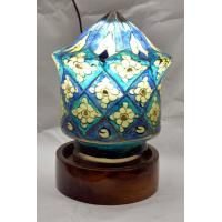Camel skin globe lamp available in black, blue and multi color