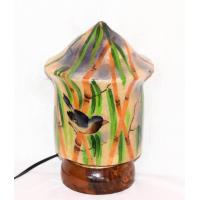 Camel skin lamp sparrow painted