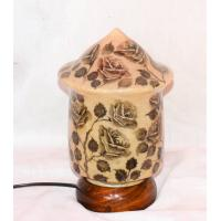 Came skin lamp cone style flower painted