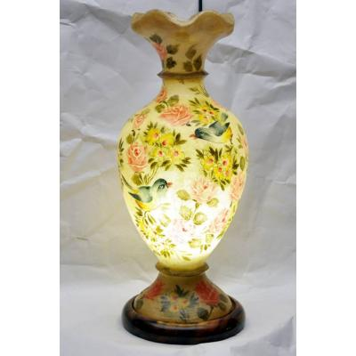 Camel skin guldan lamp sparrow and flower painted