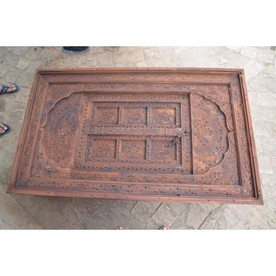 Swati Hand Carved kail and Sheesham Wood Table