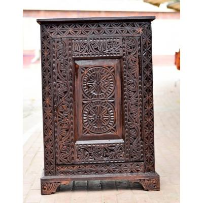 Swat Hand Carved Small Multipurpose Single Door Almirah