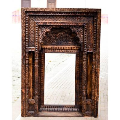 Swati Hand Carved Floral Design Beautiful Mirror Frame